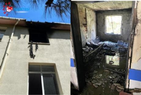 Eski Hastane Binasında Yangın Çıktı